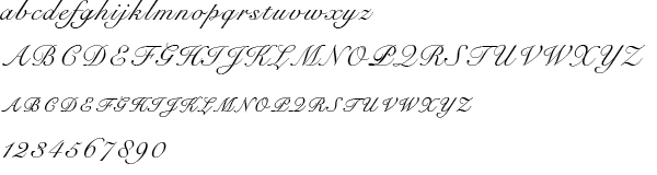 Image of the Snell Roundhand Regular typeface