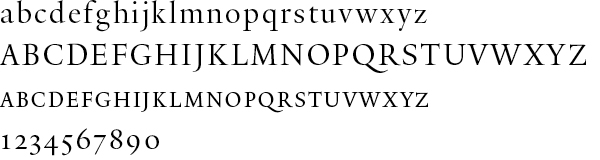Image of the Yale Display typeface