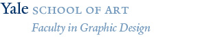 Yale School of Art, Faculty in Graphic Design wordmark