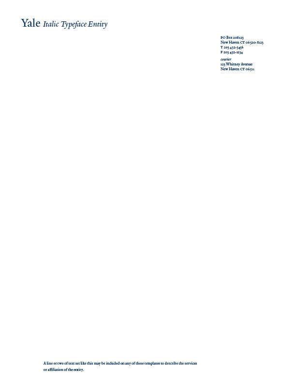Examples of letterhead